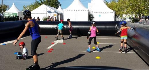 Le Roller Skating saint Orens lors du we VitalSport à Decathlon sur le site d' infosainto